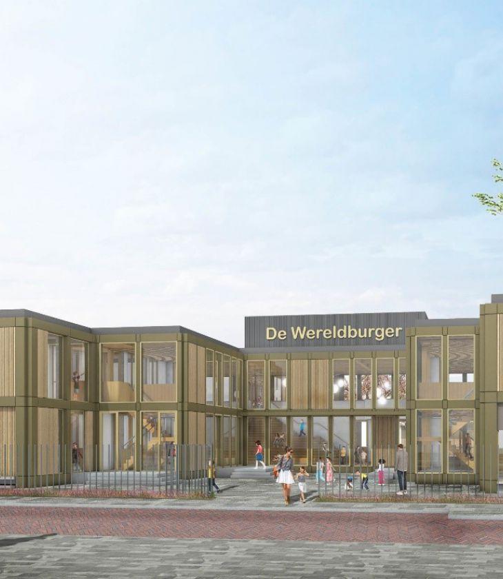 Vloerverwarming installeren in basisschool De Wereldburger